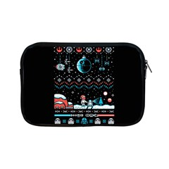 That Snow Moon Star Wars  Ugly Holiday Christmas Black Background Apple Ipad Mini Zipper Cases