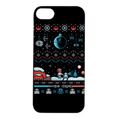 That Snow Moon Star Wars  Ugly Holiday Christmas Black Background Apple Iphone 5s/ Se Hardshell Case