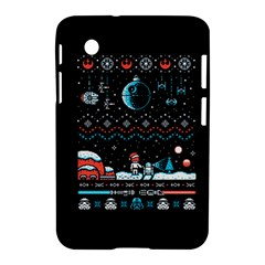 That Snow Moon Star Wars  Ugly Holiday Christmas Black Background Samsung Galaxy Tab 2 (7 ) P3100 Hardshell Case