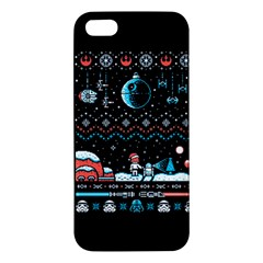 That Snow Moon Star Wars  Ugly Holiday Christmas Black Background iPhone 5S/ SE Premium Hardshell Case