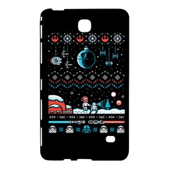 That Snow Moon Star Wars  Ugly Holiday Christmas Black Background Samsung Galaxy Tab 4 (7 ) Hardshell Case