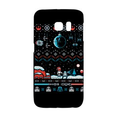That Snow Moon Star Wars  Ugly Holiday Christmas Black Background Galaxy S6 Edge