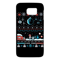 That Snow Moon Star Wars  Ugly Holiday Christmas Black Background Galaxy S6