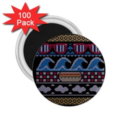 Ugly Summer Ugly Holiday Christmas Black Background 2.25  Magnets (100 pack)