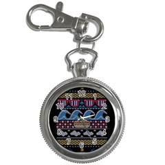 Ugly Summer Ugly Holiday Christmas Black Background Key Chain Watches