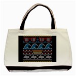 Ugly Summer Ugly Holiday Christmas Black Background Basic Tote Bag Front