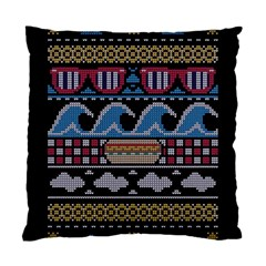 Ugly Summer Ugly Holiday Christmas Black Background Standard Cushion Case (one Side)