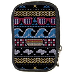 Ugly Summer Ugly Holiday Christmas Black Background Compact Camera Cases