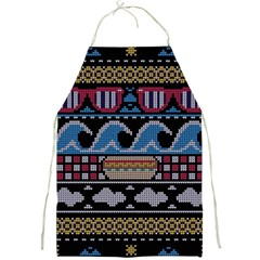 Ugly Summer Ugly Holiday Christmas Black Background Full Print Aprons