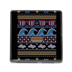 Ugly Summer Ugly Holiday Christmas Black Background Memory Card Reader (square)