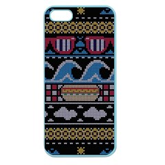 Ugly Summer Ugly Holiday Christmas Black Background Apple Seamless Iphone 5 Case (color)