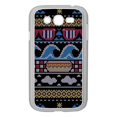 Ugly Summer Ugly Holiday Christmas Black Background Samsung Galaxy Grand DUOS I9082 Case (White)
