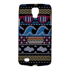 Ugly Summer Ugly Holiday Christmas Black Background Galaxy S4 Active