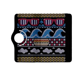 Ugly Summer Ugly Holiday Christmas Black Background Kindle Fire Hdx 8 9  Flip 360 Case