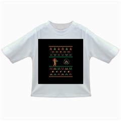 We Wish You A Metroid Christmas Ugly Holiday Christmas Black Background Infant/Toddler T-Shirts