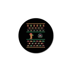 We Wish You A Metroid Christmas Ugly Holiday Christmas Black Background Golf Ball Marker
