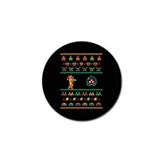 We Wish You A Metroid Christmas Ugly Holiday Christmas Black Background Golf Ball Marker (4 Pack)