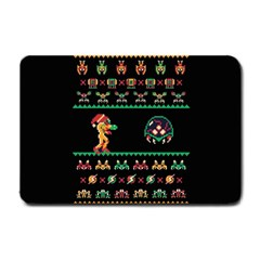 We Wish You A Metroid Christmas Ugly Holiday Christmas Black Background Small Doormat
