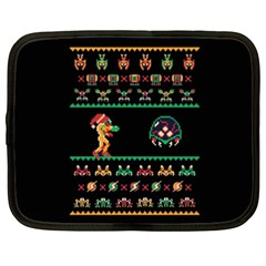 We Wish You A Metroid Christmas Ugly Holiday Christmas Black Background Netbook Case (xxl)