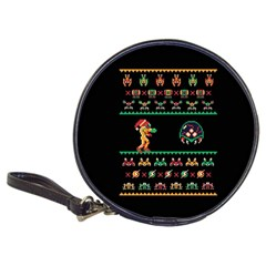 We Wish You A Metroid Christmas Ugly Holiday Christmas Black Background Classic 20-CD Wallets