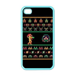 We Wish You A Metroid Christmas Ugly Holiday Christmas Black Background Apple Iphone 4 Case (color)