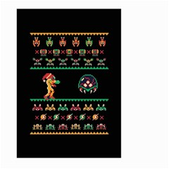 We Wish You A Metroid Christmas Ugly Holiday Christmas Black Background Large Garden Flag (two Sides)