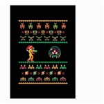 We Wish You A Metroid Christmas Ugly Holiday Christmas Black Background Large Garden Flag (Two Sides) Back
