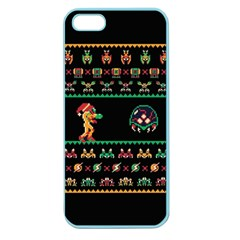 We Wish You A Metroid Christmas Ugly Holiday Christmas Black Background Apple Seamless iPhone 5 Case (Color)