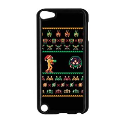 We Wish You A Metroid Christmas Ugly Holiday Christmas Black Background Apple Ipod Touch 5 Case (black)