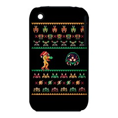 We Wish You A Metroid Christmas Ugly Holiday Christmas Black Background iPhone 3S/3GS