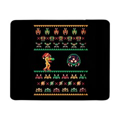 We Wish You A Metroid Christmas Ugly Holiday Christmas Black Background Samsung Galaxy Tab Pro 8.4  Flip Case