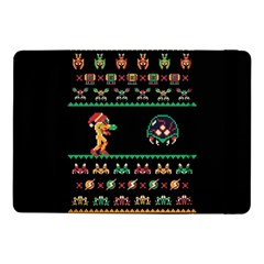 We Wish You A Metroid Christmas Ugly Holiday Christmas Black Background Samsung Galaxy Tab Pro 10.1  Flip Case