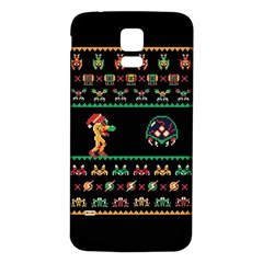 We Wish You A Metroid Christmas Ugly Holiday Christmas Black Background Samsung Galaxy S5 Back Case (white)