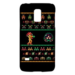 We Wish You A Metroid Christmas Ugly Holiday Christmas Black Background Galaxy S5 Mini