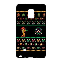We Wish You A Metroid Christmas Ugly Holiday Christmas Black Background Galaxy Note Edge