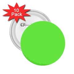 Neon Color - Light Brilliant Harlequin 2.25  Buttons (10 pack)