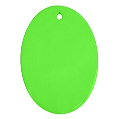 Neon Color - Light Brilliant Harlequin Oval Ornament (Two Sides)