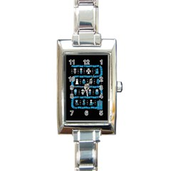 Who Is Outside Ugly Holiday Christmas Black Background Rectangle Italian Charm Watch