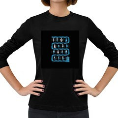Who Is Outside Ugly Holiday Christmas Black Background Women s Long Sleeve Dark T-Shirts