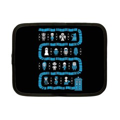 Who Is Outside Ugly Holiday Christmas Black Background Netbook Case (small)