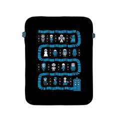 Who Is Outside Ugly Holiday Christmas Black Background Apple Ipad 2/3/4 Protective Soft Cases