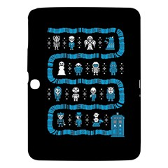 Who Is Outside Ugly Holiday Christmas Black Background Samsung Galaxy Tab 3 (10.1 ) P5200 Hardshell Case