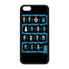 Who Is Outside Ugly Holiday Christmas Black Background Apple iPhone 5C Seamless Case (Black)