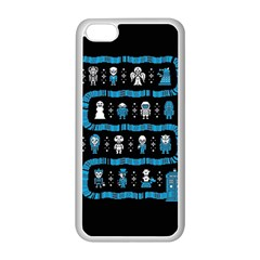 Who Is Outside Ugly Holiday Christmas Black Background Apple Iphone 5c Seamless Case (white)