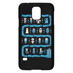 Who Is Outside Ugly Holiday Christmas Black Background Samsung Galaxy S5 Case (Black)