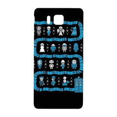 Who Is Outside Ugly Holiday Christmas Black Background Samsung Galaxy Alpha Hardshell Back Case
