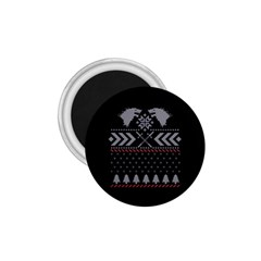 Winter Is Coming Game Of Thrones Ugly Christmas Black Background 1 75  Magnets