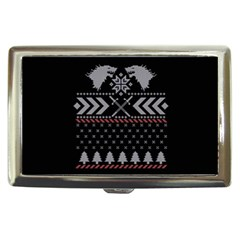 Winter Is Coming Game Of Thrones Ugly Christmas Black Background Cigarette Money Cases
