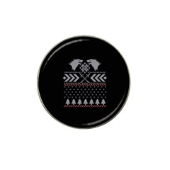 Winter Is Coming Game Of Thrones Ugly Christmas Black Background Hat Clip Ball Marker (10 pack)