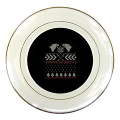 Winter Is Coming Game Of Thrones Ugly Christmas Black Background Porcelain Plates